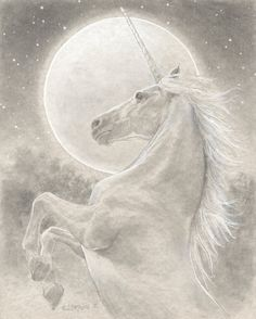 The Unicorn 8.5x11 Signed Print by brownieman on Etsy
