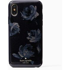 night rose glitter iphone x case ($45) ❤ liked on Polyvore featuring accessories, tech accessories and phone cases