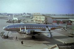 Paris Orly Airport in the late 40s or early 50s. The terminal bldg. was inaugurated in 1948.