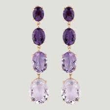 Image result for amethyst pendant earrings