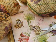 SewforSoul: Plastic Eggs ~ Napkin Decoupage Tutorial