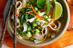 Vegan Phô With Carrots, Noodles and Edamame Recipe - NYT Cooking