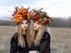 Creative Glam Portraits featuring floral crowns with Zoernig Photography in Edmonton, Alberta.  #fashion #glam #boho #nymph #elves