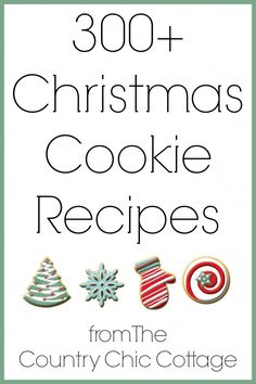 Get over 300 ideas for Christmas cookie recipes here. A great collection of the best and most unique recipes for your holiday baking.