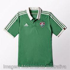 Camisa Adidas Fluminense III 2015 s nº - Verde+Branco Camisa Fluminense f4d9f5cfd10d7