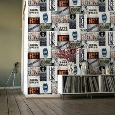 Muriva Novelties Rock Rules Multi Wallpaper - http://godecorating.co.uk/muriva-novelties-rock-rules-multi-wallpaper/