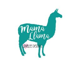 Mama Llama Vinyl Decal Yeti Car Sticker by LoveLeeDesignsByA