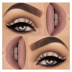 Make up thang | cashmere lime crime, glitter cut crease cat eye |... ❤ liked on Polyvore featuring beauty products, makeup, lime crime, lime crime cosmetics and lime crime makeup
