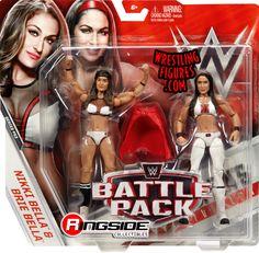Bella Twins (Nikki Bella & Brie Bella) - WWE Battle Packs 43 WWE Toy Wrestling Action Figures