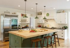 View of overall kitchen and island (Cultivate.com)