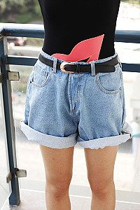 Retro high waist skinny loose curl