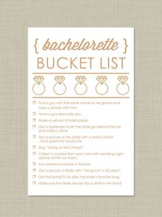 Printable Bachelorette Scavenger Hunt Instant by PippyPaperGoods Bachelorette Bucket Lists, Bachelorette Scavenger Hunt, Bachlorette Party, Bachelorette Party Games, Bachelorette Weekend, Bridal Shower Games, Bridal Showers, Hen Night Ideas, Friend Wedding