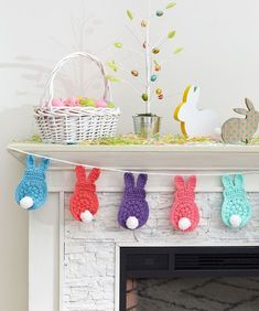 crochet amigurumi rabbit ideas Bunny Garland By Nancy Anderson - Free Crochet Pattern - (redheart) - Amazing Photo of Easter Crochet Patterns Easter Crochet Patterns Free Crochet Easter Bunny Pattern Archives Crochet Kingdom 20 Craft Passions: Bunny Garla Bunny Crochet, Easter Crochet Patterns, Crochet Gratis, Crochet Amigurumi, Crochet Patterns For Beginners, Crochet Simple, All Free Crochet, Crochet Garland, Confection Au Crochet