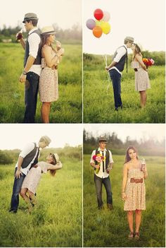 Vintage Picnic Engagement Session by Bella Chic Photography   Style Me Pretty