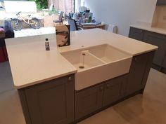 White Carrera- Welwyn Garden City, Herts - Rock and Co Granite Ltd Splashback, Cabinet Colors, Carrara, Granite, Kitchen, Home Decor, Cuisine, Homemade Home Decor, Home Kitchens