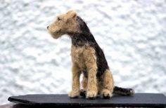 welsh terrier 'ronja' needle felted by adore62, via Flickr. Lijkt precies op de Airdale terriers die wij vroeger hadden❤️