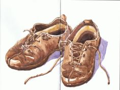 Zapatos de invierno / Winter shoes. Acuarela - Watercolor by Isabel Mariasg.