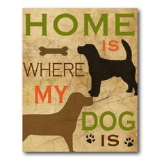 Best Friend My Dog II Canvas Wall Art - 16W x 20H in. - WEB-T135