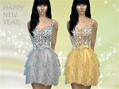 The Sims Resource: PartyZ. 04 dress by Zuckerschnute20 • Sims 4 Downloads