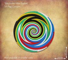 SA Flag Telephone Wire Basket