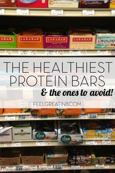 Looking for a healthy store-bought snack bar or protein bar? Checkout this list of the healthiest protein bars - and the ones to avoid! Feel Great in 8 - Healthy Real Food Recipes Healthy Protein Snacks, Healthy Bars, High Protein, Protein Foods, Best Vegan Protein Bars, Low Sugar Protein Bars, Healthy Foods, Gourmet, Diets
