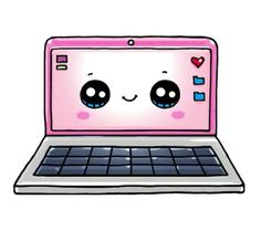Простые рисунки - Laptop - Ideas of Laptop - Прос Kawaii Girl Drawings, Cute Food Drawings, Cute Animal Drawings Kawaii, Cute Disney Drawings, Doodle Drawings, Cartoon Drawings, Doodle Art, Simple Drawings, Arte Do Kawaii
