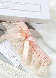 blush pink garter rose gold garter blush pink от INVITESTORE