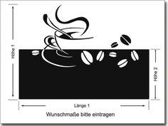 Sichtschutz Tasse mit Kaffeebohnen