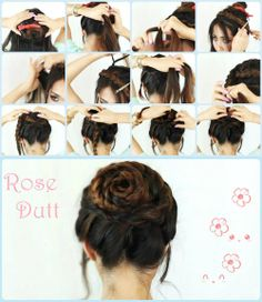 Rose Braid Hair Tutorial