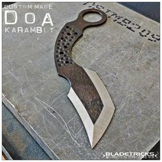 Heat treated and ground, a cuatom made Bladetricks DOA Karambit waiting for its handle scales #WIP #handcrafted #handmade #knife #fighting