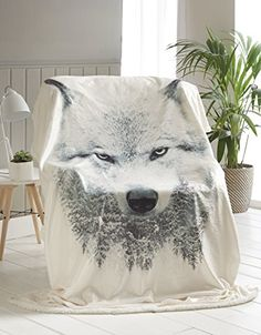 HORSE 3D ANIMAL PRINT LUXURY HOTEL QUALITY FAUX FUR THROW SOFA BED SOFT BLANKET