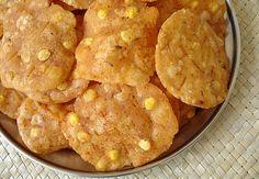 Andhra Snack - Pappu Chekkalu (Rice Crackers)