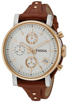 Fossil Original Boyfriend Chronograph Leather Watch -- Check this awesome watch by going to the link at the image.