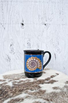 70s Otagiri Shell Mug Ocean Beach House Mug Handcrafted in   Etsy