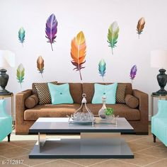 Decorative Stickers Colorful PVC Wall Sticker  *Material* PVC  *Size (W X L)* 84 cm X 145 cm  *Description* It Has 1 Piece Of Wall sticker  *Sizes Available* Free Size *   Catalog Rating: ★4.1 (356)  Catalog Name: Beautiful PVC Wall Stickers Vol 7 CatalogID_80745 C127-SC1267 Code: 281-712817-