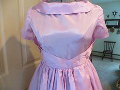 VTG. 50'S 60'S HAND MADE SATIN PARTY WEDDING DRESS | eBay