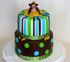 You'll go Banana's over this adorable Monkey Birthday Cake!