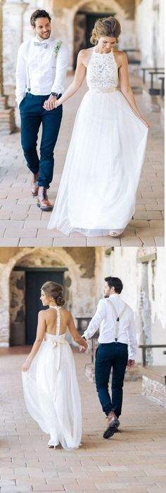 Charming Wedding Gown,Simple Jewel Wedding Dresses,Sleeveless Long Wedding Dress, Lace Top Wedding Dress, White Tulle Wedding Dress, A-line Wedding Dress, Chic Garden Wedding Dress, Wedding Dresses