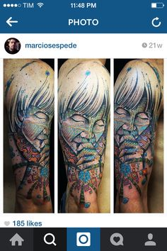 My upper-arm visionary tattoo xD Work done by Marcio Sespede