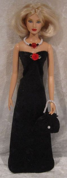 JAKKS PACIFIC 15½ Doll Clothes #02 Handmade Dress, Purse, & Beaded Necklace Set #EschDesigns