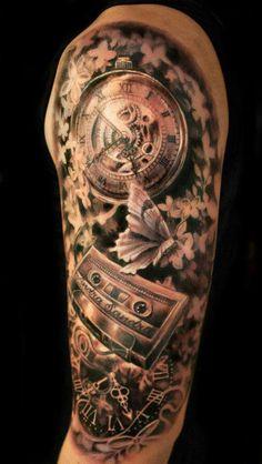 steampunk clock tattoo - Google Search