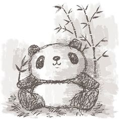 Panda drawing on Behance Gallery