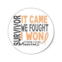 I'm a Survivor!!  Support Uterine Cancer Awareness!! <3