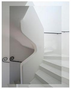 Sculptural stair by Bawa