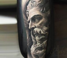 Zeus tattoo by Arlo Tattoos                                                                                                                                                                                 Mais