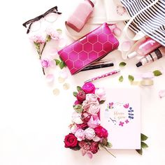 Discover our expert tips on styling, photography and how to take better Instagram photos on the blog - featuring all our gorgeous pink stationery favourites