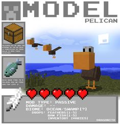 Minecraft - Pelican by Dragonith.deviantart.com on @deviantART