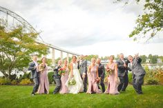 Beautiful fall wedding in Chesapeake City MD. A great bridal party celebrating on Moon Properties.
