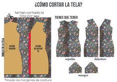 miscelánea diy: DIY | Vestido camisero con lazo a la cintura Sewing Patterns Free, Dress Patterns, Free Pattern, Diy Vestido, Fabric Bins, Love Sewing, Diy Shirt, Diy Paper, Diy Clothes