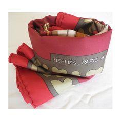 foulard carré de soie maison hermès, springs vintage, DIANE